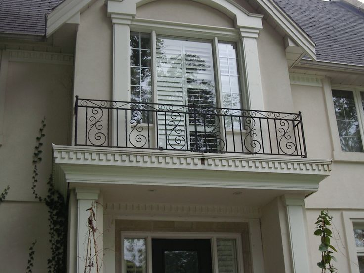 Exterior, French Window Style Design With Cool Wrought Iron Balcony Railing  Idea Feat Grey Roof Tile ~ Impressing Balcony Railing That Can Provide  Beauty ...