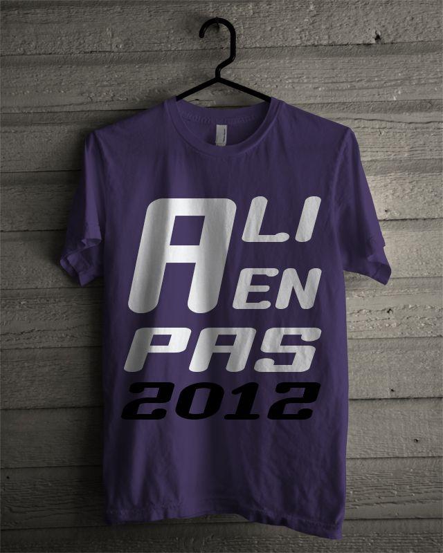 T-shirt Alienpas #6 (Eggplant)