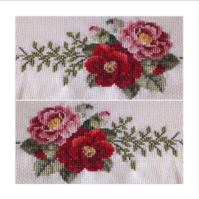 Uzun zamandır sessiz,sakin paylaşmayı bekleyen kanaviçe çiçeklerimiz...❤️❤️ Herkese güzel bir haftasonu dileklerimle...#kanaviçe #crossstitch #çarpıişi #handmade #elişi #nakış #embroidery #embroideryflowers #needleart #needlework #