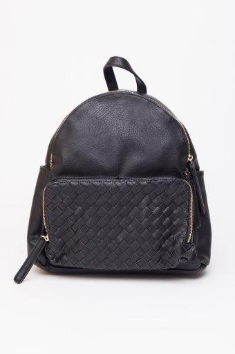 24c547abc5fe Black Lattice Pocket Diaper Backpack