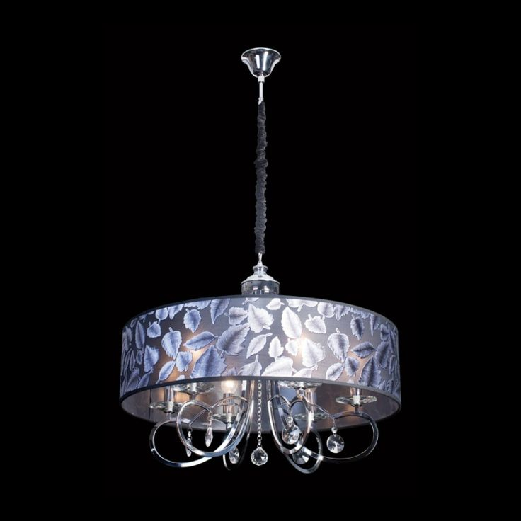 Floral Fabric Shade Chandelier
