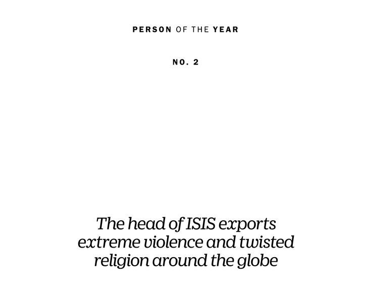 TIME Person of the Year 2015 Runner-Up: Abu Bakr al-Baghdadi