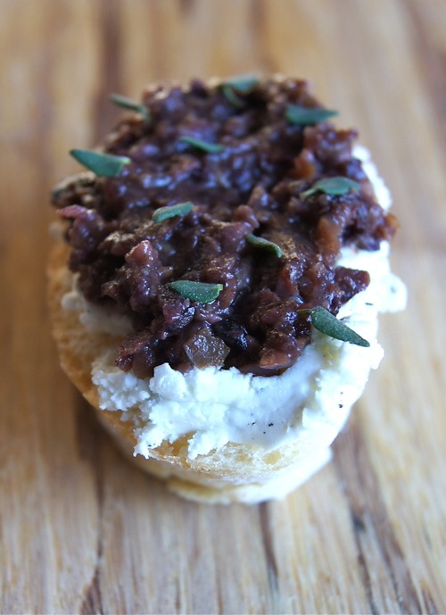 ... party appetizer: Kalamata Olive Tapenade and Goat Cheese Crostini