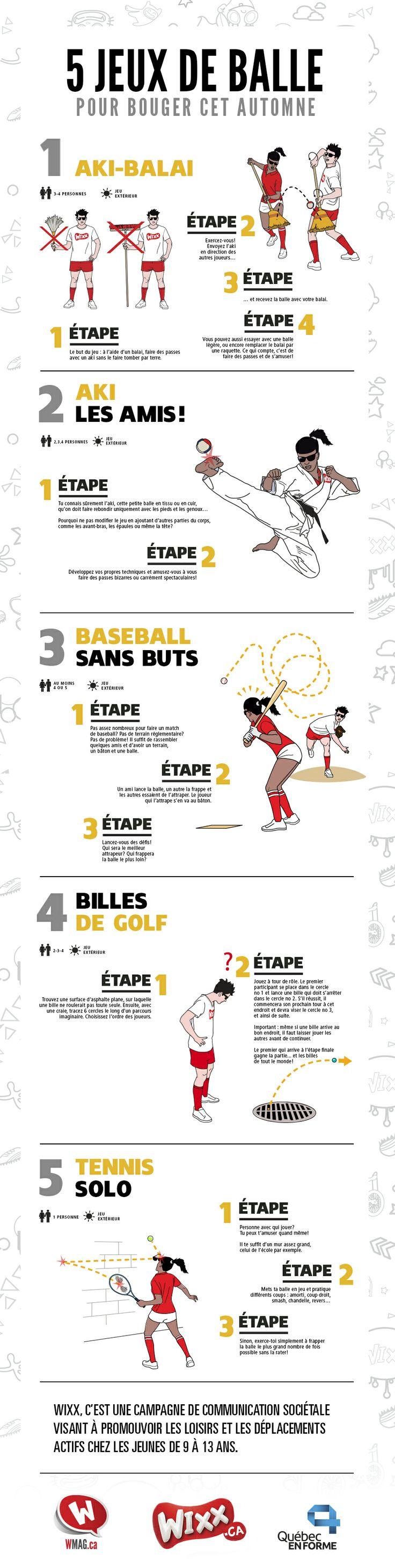 5 jeux à faire avec une balle #INFOGRAPHIE | WIXXMAG