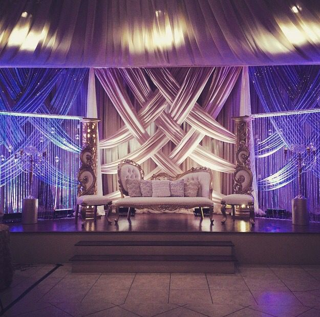 Indian Wedding Stage Receptions Simple And Elegant