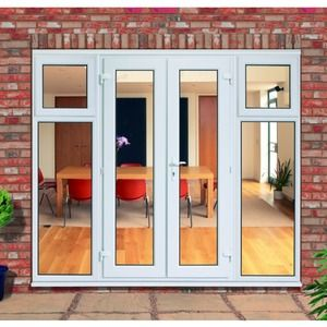 Wickes uPVC French Doors 8ft With 2 Side Sash Panels 600mm - mixed reviews