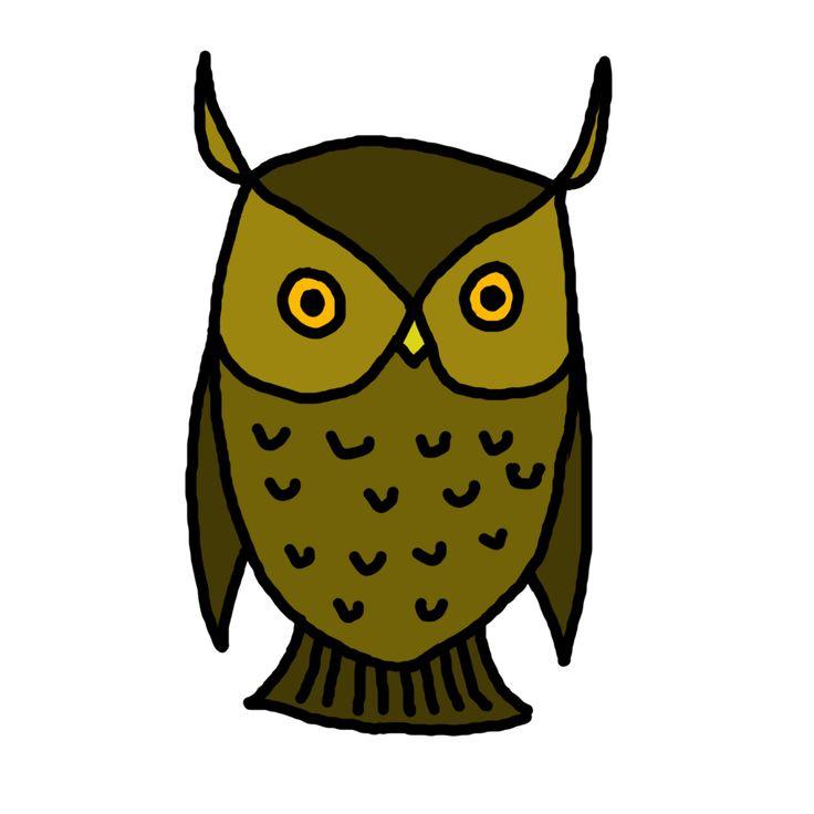 owl clip art pinterest - photo #31