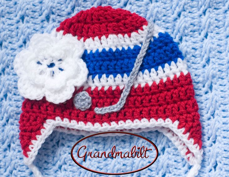 GIRLS HOCKEY HAT Montreal Canadians or New York by Grandmabilt, $16.00