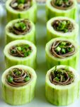 Soba Noodles in Chilled Cucumber cups | Awesome Appetizers | Pinterest