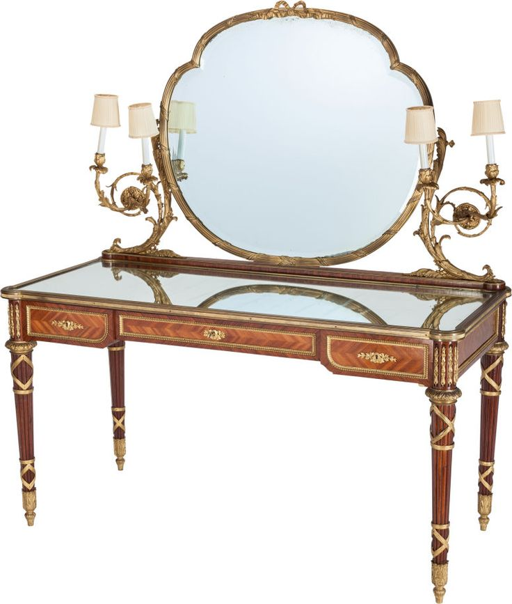 Captivating Furniture : French, A LOUIS XVI STYLE GILT BRONZE MOUNTED VANITY, 20th.