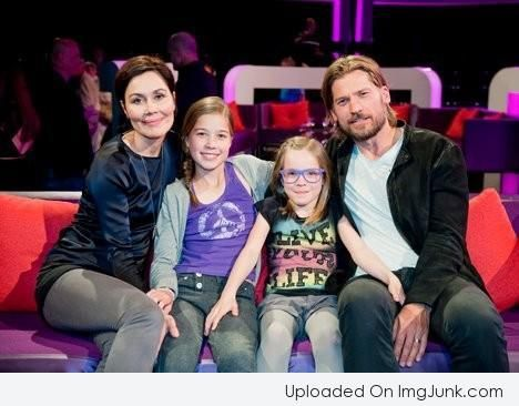 Nikolaj Coster-Waldau with his wife Nukaaka Motzfeldt And His Two Daughters Philippa And Safina