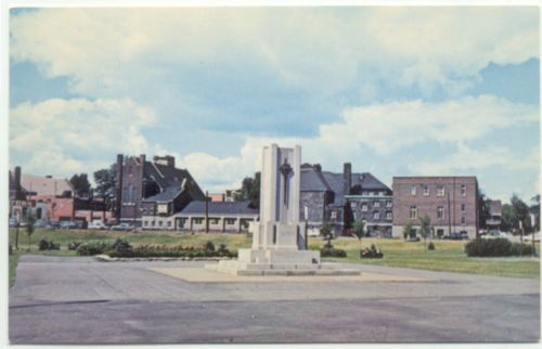 War Memorial, park, before St. Andrew's Place Erection c1960 Sudbury, Ontario