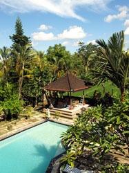 Bij Oka Wati aan de Monkey Forrest road te Ubud - Bali heb ik samen met Anita een weekje gelogeerd tijdens reis door Indonesie met de rugzak in onze jonge jaren. Denk met veel plezier terug aan heerlijke maaltijden aan de lelie vijver van Oka Wati en het uitzicht op de rijstvelden en de vuurvliegjes op balkon in de avond.