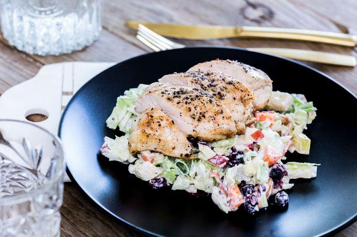 Enkel, sprø, syrlig og søt salat