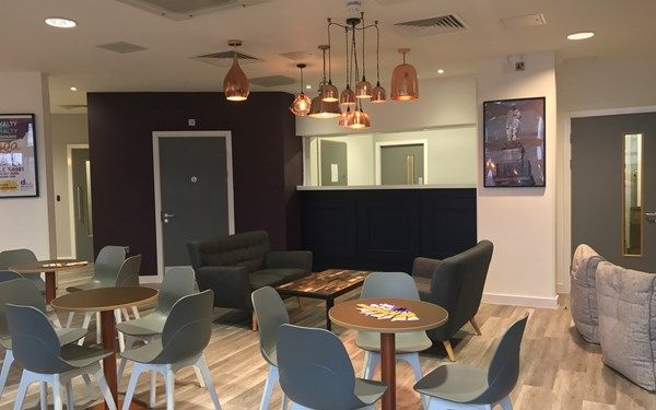 Our common room doubles up as our reception too so it's always warm and welcome