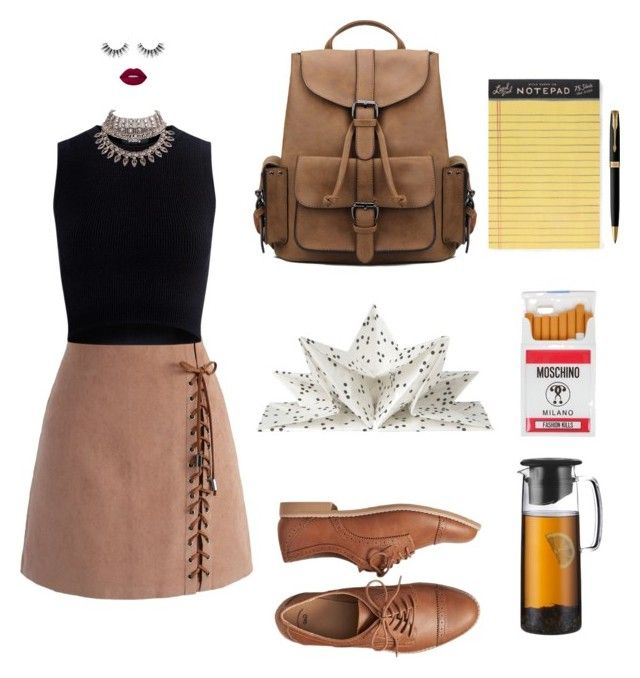 """""""Literature"""" by mariapauladiaz142 on Polyvore featuring Chicwish, Lime Crime, Theory, Velour Lashes, Gap, Bodum, Moschino, Rifle Paper Co and Parker"""