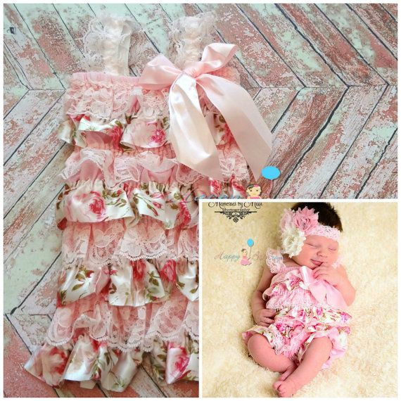 Exclusive Satin Vintage Roses Petti Lace Romper, rompers, baby girls petti Rompers, Photography props, Baby petti Rompers,birthday outfit on Etsy, $24.99