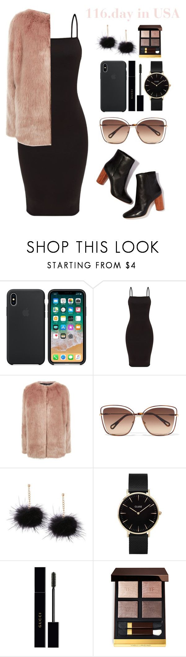 """""""116.day in USA"""" by elizcoco ❤ liked on Polyvore featuring Pinko, Chloé, CLUSE, Gucci and Tom Ford"""