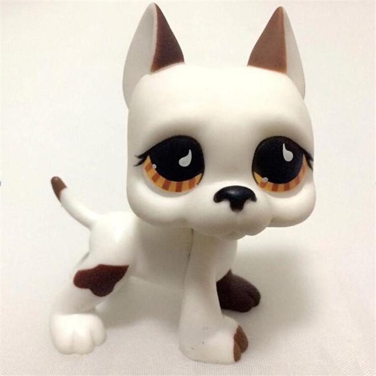 Pet Shop white dog yellow eyes LPS