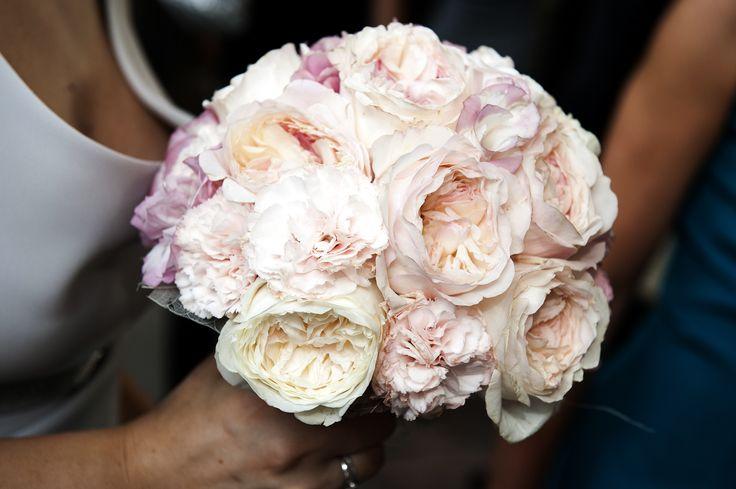 Bouquet da sposa, bridal bouquet rose inglesi rosa pink