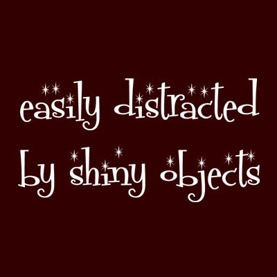 PIN ME...if you are .........  Easily distracted by shiny objects!!!