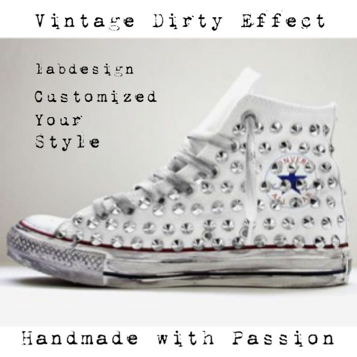 Converse customized by labdesign Dirty edition