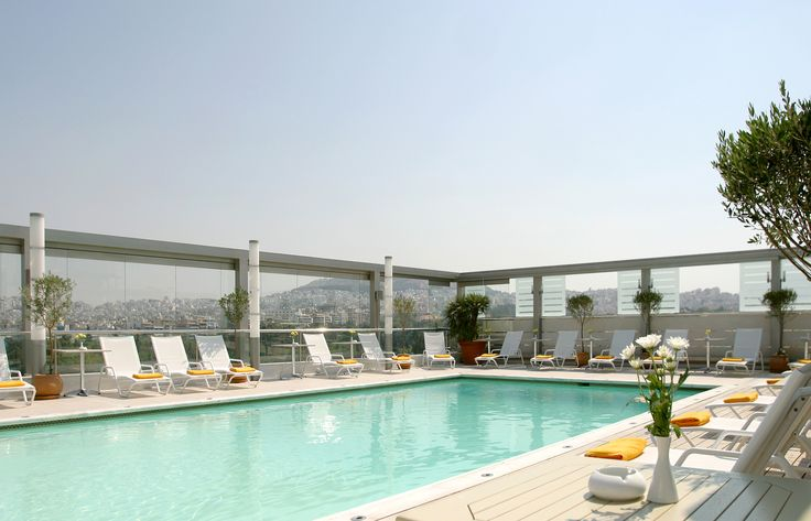 The Outdoor Rooftop Swimming Pool Offers A Breathtaking View Of Lycabettus Hill