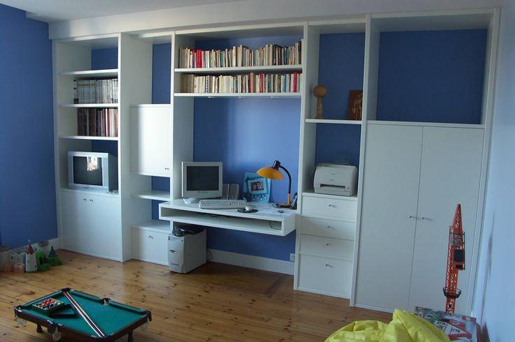 Aménagement de chambre de garçon à Cholet - Yves Clément décorateur d'intérieur