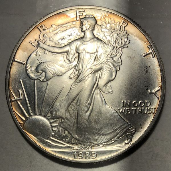 1989 Walking Liberty 1oz 999 Silver Dollar Toned For Sale In Houston Tx Offerup Silver Dollar Coin Collecting Coin Collectors