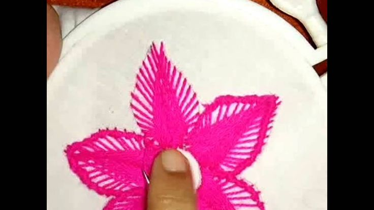 How to make a beautiful hand embroidery flower