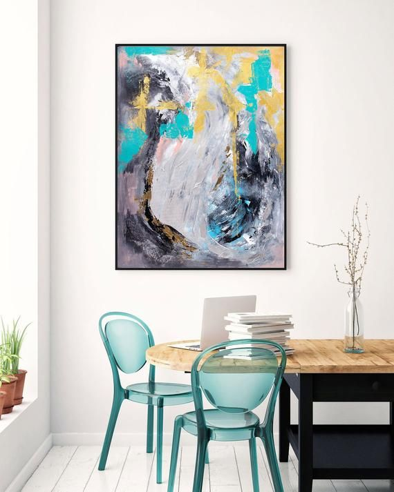 Extra Large Wall Art Original Painting On Canvas Contemporary Etsy