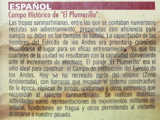 """RESEÑA SOBRE EL """"CAMPO HISTORICO de EL PLUMERILLO"""""""