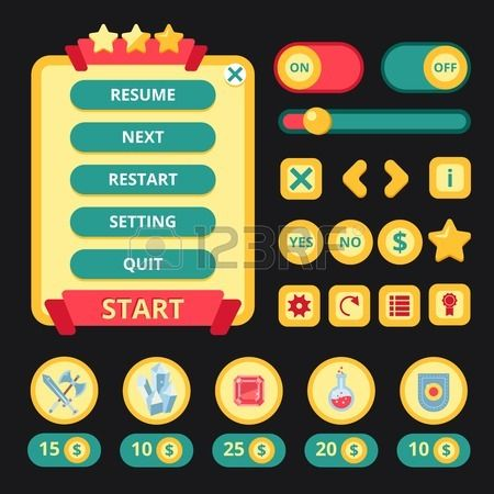 Medieval jeu vid o utilisateur application mobile vecteur de mod le d interface illustration Banque d'images