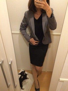 ちかぴい│THE SUIT COMPANYのスーツジャケットコーディネート