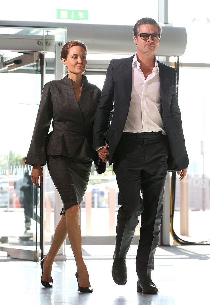 Angelina Jolie and Brad Pitt at Global Summit in London | POPSUGAR Celebrity
