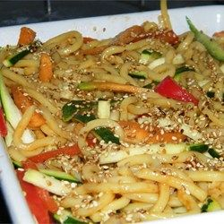 This salad is super yummy - but the dressing is a big HIT! Healthy noodle salad recipe