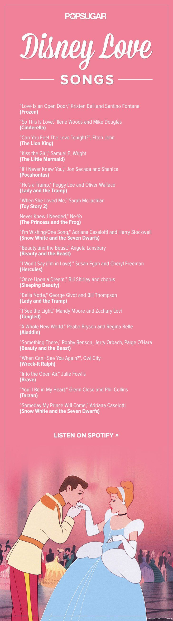 THE PERFECT spotify PLAYLIST, DISNEY ROMANCE SONGS!!!!!!!______Feel the Love Tonight With This Romantic Disney Playlist