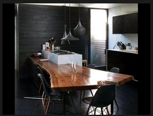 Live edge kitchen island kitchen pinterest island for Live edge kitchen island