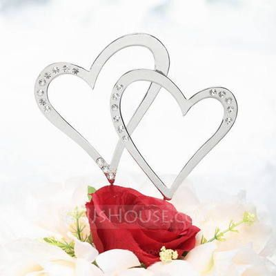 Cake Topper - $12.99 - Double Hearts Cake Topper (119030810) http://jjshouse.com/Double-Hearts-Cake-Topper-119030810-g30810