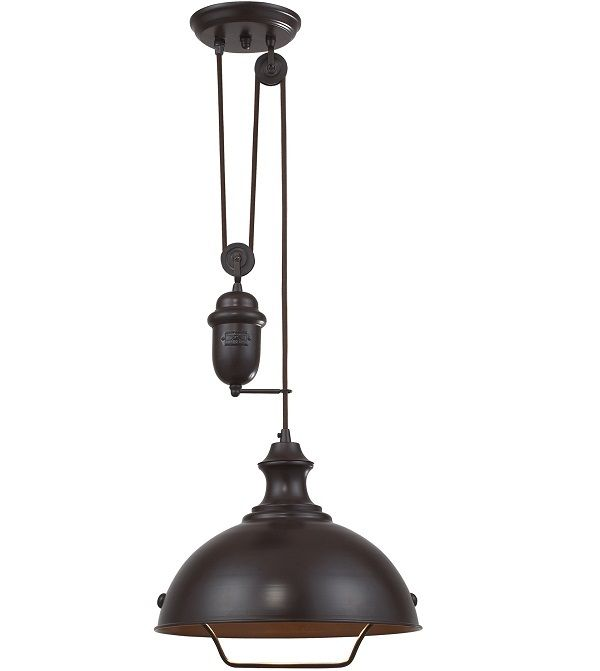 Kitchen Island Single Pendant Lighting: Farmhouse Adjustable Pendant, Elk Group, This Farmhouse