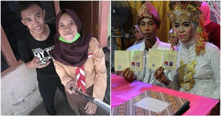 Heboh, pasangan remaja baru usia 15 tahun sudah menikah