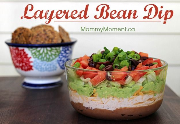 Layered Bean Dip lots and lots of CHEESE! #simplepleasures #CDNcheese