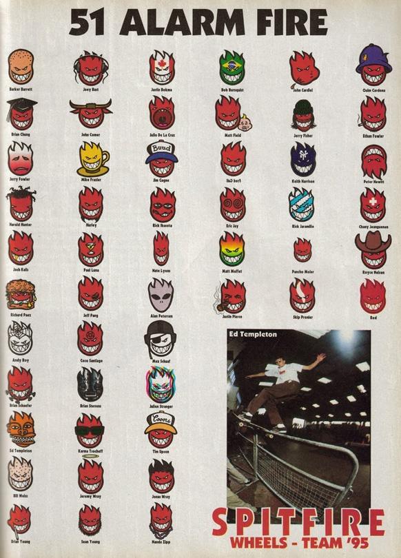 Ed Templeton 1995 Spitfire ad