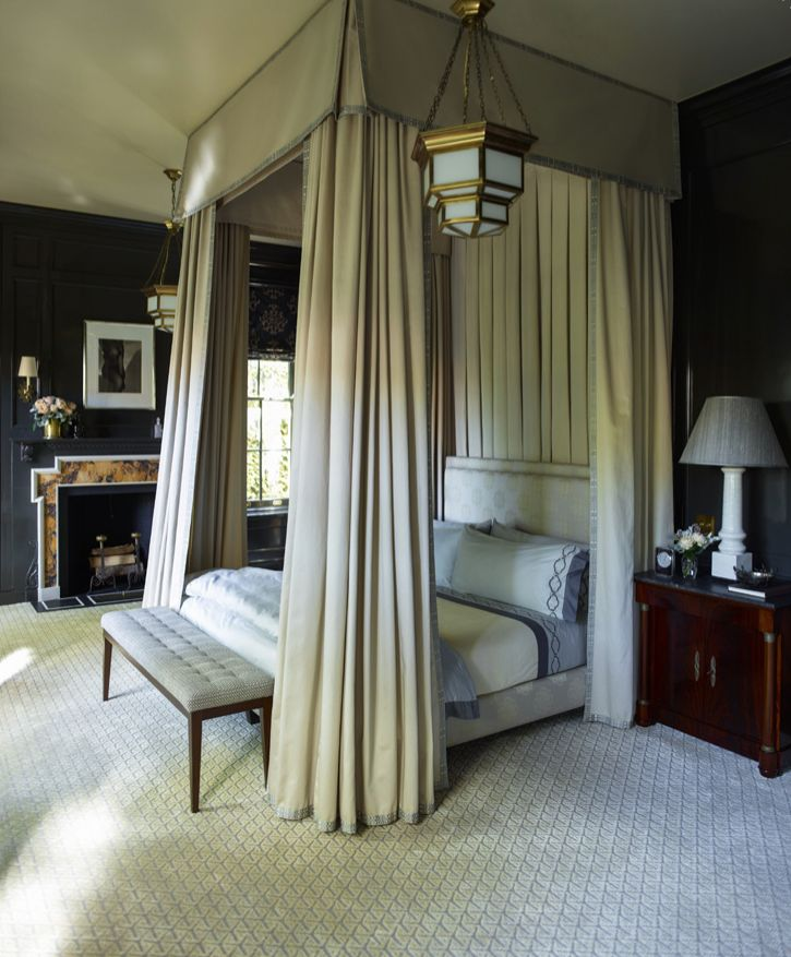 david hickss wye carpet in two shades of gray establishes a tailored base for a handsome - Carpet Canopy Decorating