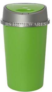 COLOUR APPLE LIME GREEN TOUCH TOP BIN RUBBISH BIN KITCHEN HOME PLASTIC.