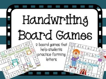 Instead of making it a board game-could make it a bingo kind of game. Instead of covering the letter, trace the letter.