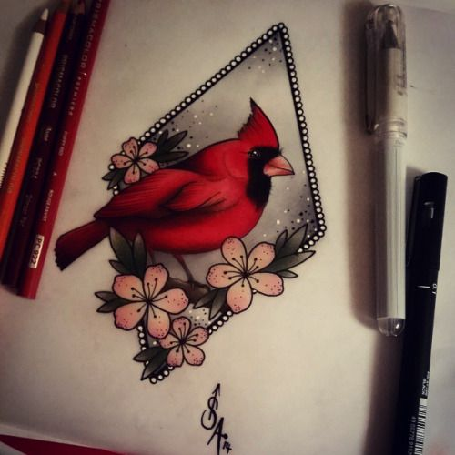 neo traditional bird tattoo - Google Search