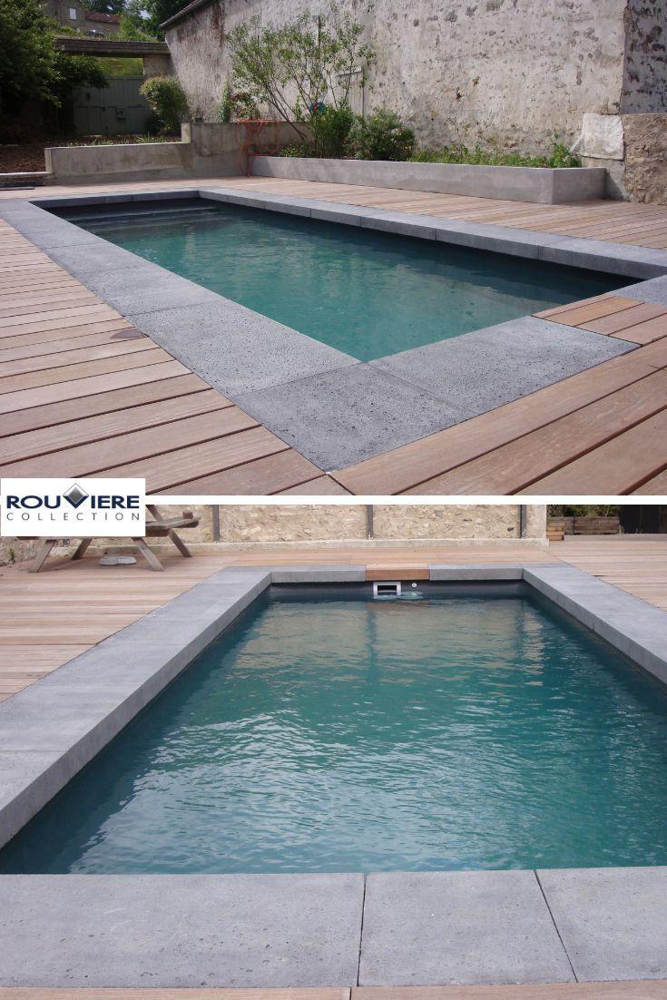 Margelle A Talon En Beton Pool Water Features Pool House