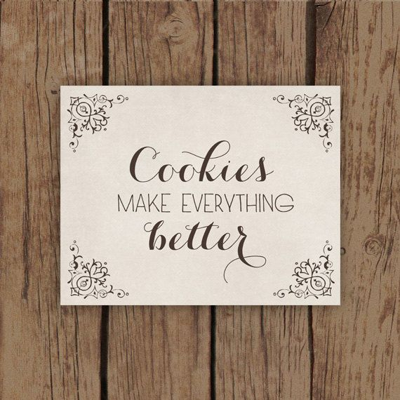 Kitchen Art Print - Food Art Print Typography with Cookie Quote - Cookies Make Everything Better Kitchen Decor on Etsy, $18.00