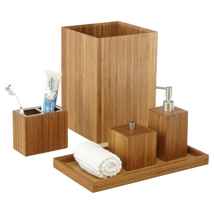 Bathroom Great Bamboo Bathroom Accessory Sets Have White Towel With Toiletries Choosing Bathroom Accessory Sets